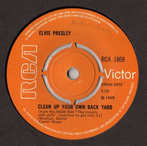 Elvis Clean Up Your Own Backyard by Elvis Clean Up Your Own Back Yard Vinyl 7