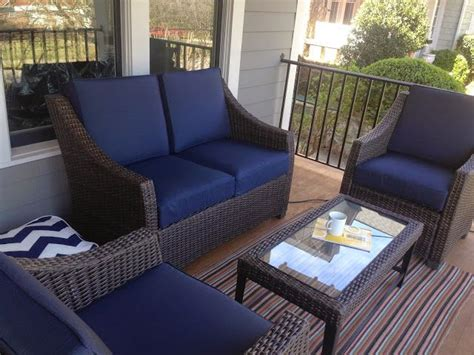 Porch Set by The Target Threshold Belvedere Patio Set On My Front Porch