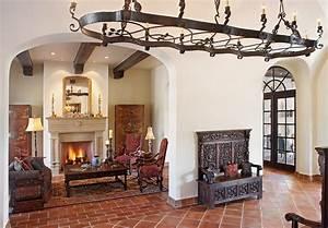 terracotta-floor-tile-Dining-Room-Mediterranean-with