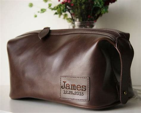 ships  day xl personalized groomsmen gift mens etsy mens toiletry bag custom leather