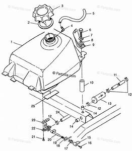 Polaris Atv 1997 Oem Parts Diagram For Fuel Tank Magnum