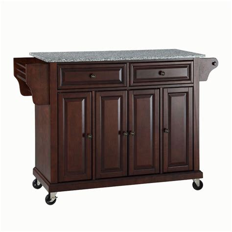 crosley     natural wood top mobile kitchen