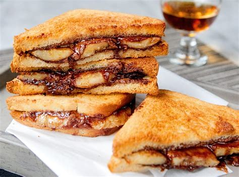 fryer air desserts recipes sandwich banana nutella stack chef jean food dessert fried sandwiches meals cook super healthy oven fry