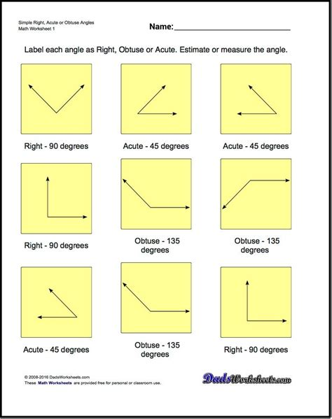 Geometry Worksheets The Basic Geometry Worksheets In This Section Cover A Number Of Basic Areas