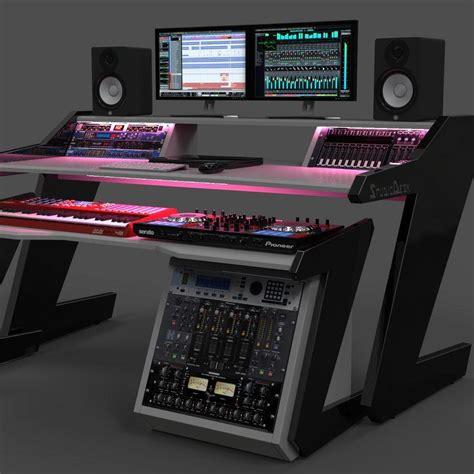 Desk With Light by Beat Desk All Black Studio Desk Workstation Furniture