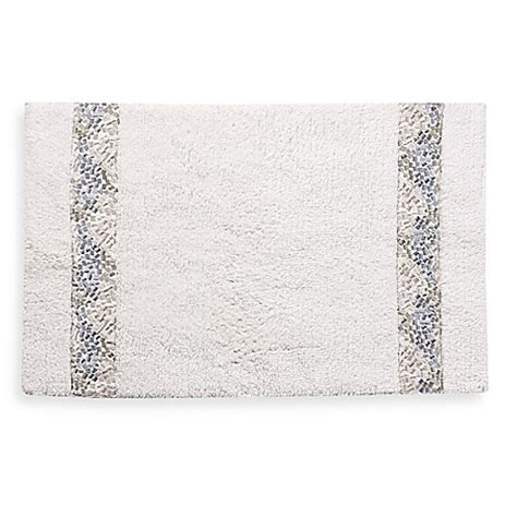 20 inch tile croscill 174 spa tile 30 inch x 20 inch bath rug in white bed bath beyond