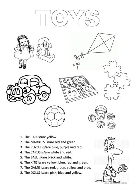 Coloring Worksheets by Toys Colouring Worksheet Esl Worksheets