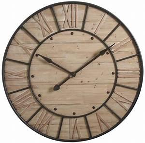 Horloge En Bois Et Mtal Industrie