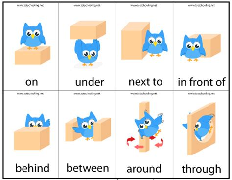 motor skills preposition totschooling toddler 422 | cards