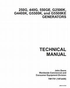John Deere Generators Tm1791 Technical Manual Pdf