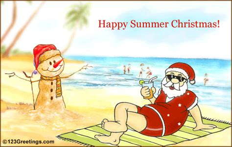 happy summer christmas free summer ecards greeting cards