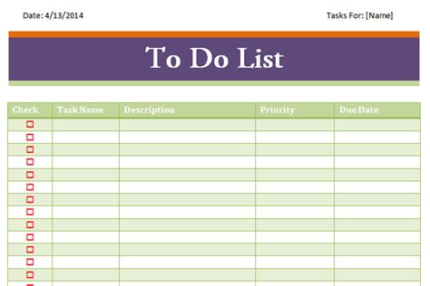 excel to do list template weekly to do list template excel to do list template