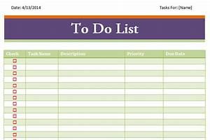 things list template excel weekly list template excel With things to do list template excel