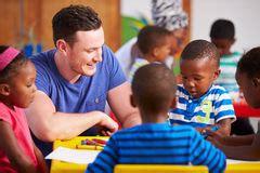 preschool volunteer preschool classroom royalty free stock images image 886