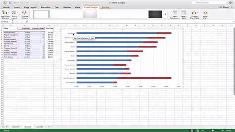 gantt chart  microsoft office excel mac ver