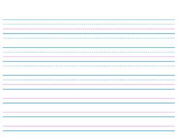 k to 12 grade 4 handwriting lined paper for kindergarten and 1st grade by carrie kirkland