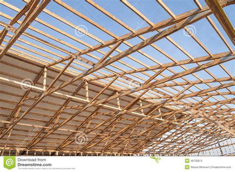 wood frame barn construction stock photo image
