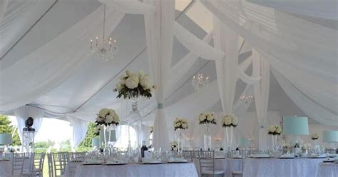 Draping Poles - draping for a marquee with poles