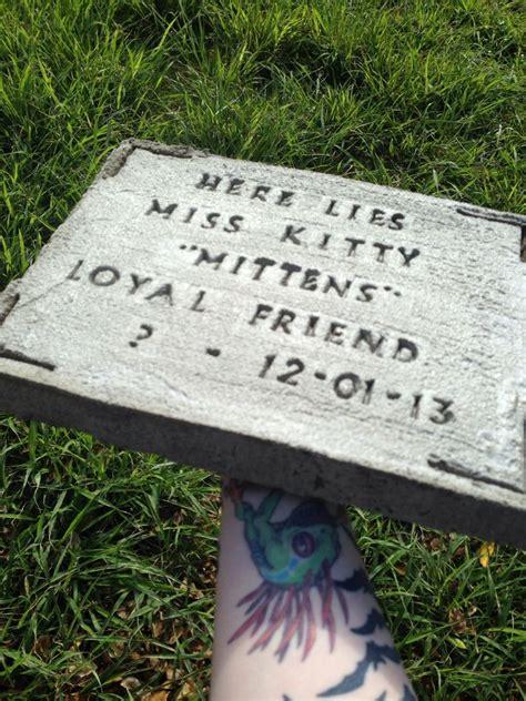 diy pet tombstonememorial stone  steps  pictures