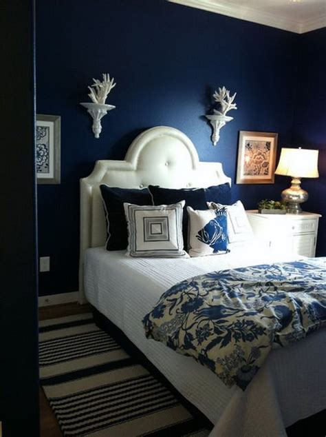 Ideas Navy Blue Walls by 20 Marvelous Navy Blue Bedroom Ideas Blue And White