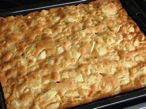 schneller apfelkuchen vom blech von sabbel chefkochde
