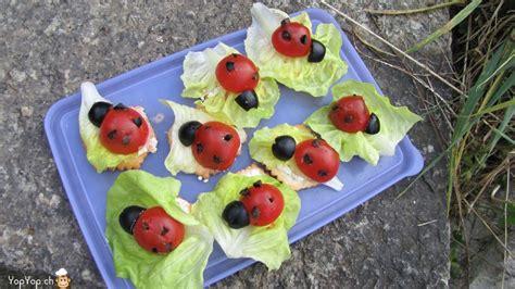 insecte cuisine les amuse bouche coccinelle une recette amusante pour les