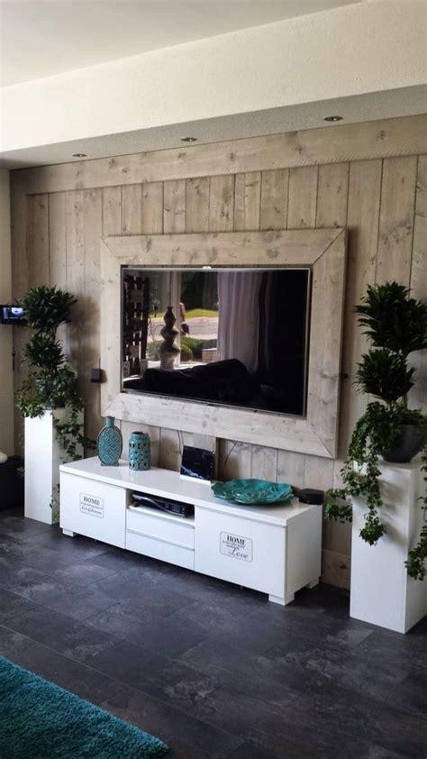 tv wand steigerhout ideas de muebles para la televisi 243 n que te encantar 225 n i