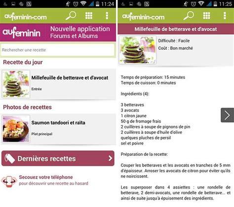 application de recette de cuisine les meilleures applications de recettes sur android