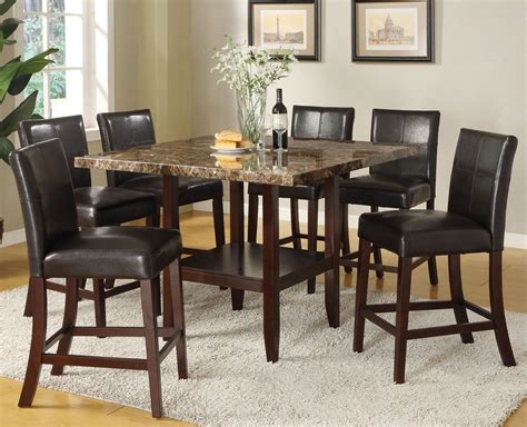 7 piece pub table set acme furniture idris 7 piece counter height dining set