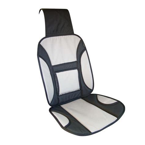 couvre siege couvre siège avec renfort lombaire tissu oxford gris et