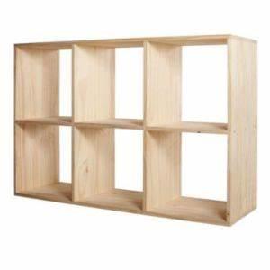 Etagere 6 Cases : tag re modulable 6 cases pin mixxit castorama ~ Teatrodelosmanantiales.com Idées de Décoration