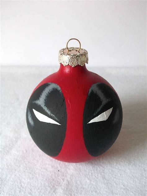 deadpool marvel superhero painted holiday christmas