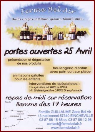 chambre agriculture lorraine portes ouvertes à la ferme bel air le 25 avril 2010 la