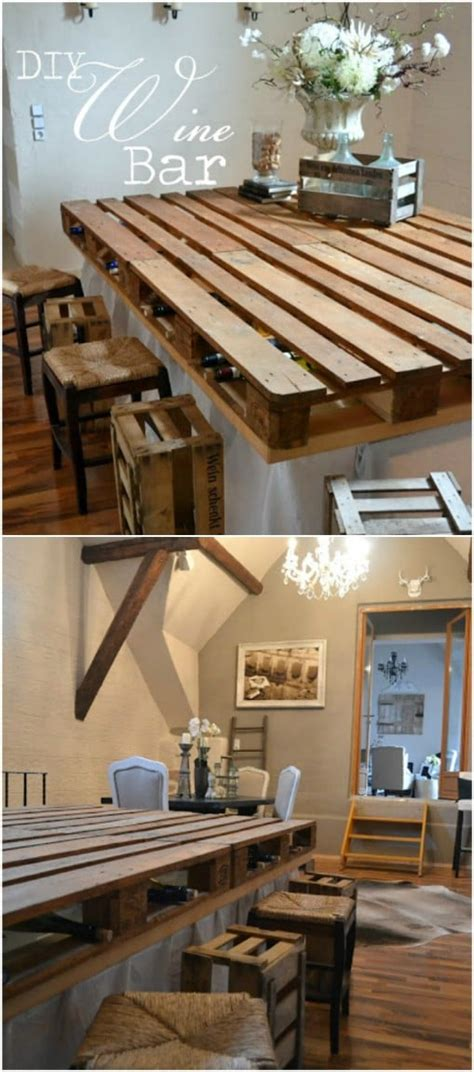 Diy Bar Furniture by 10 Brilliantly Rustic Diy Pallet Kitchen Furniture Ideas