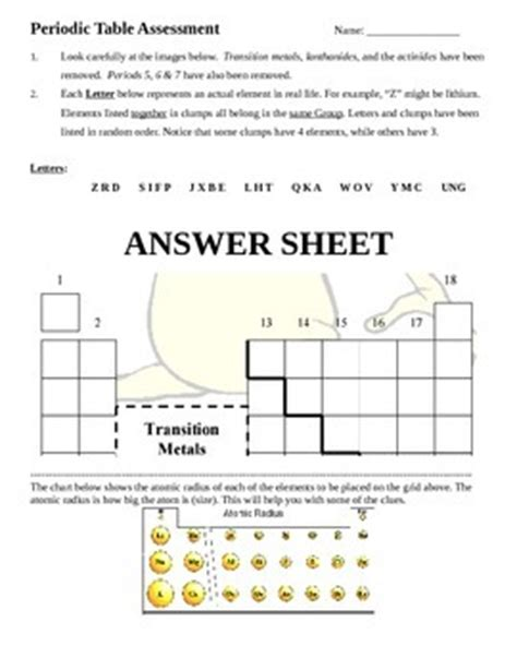 alien periodic table activity alien periodic table worksheet answer key wiildcreative