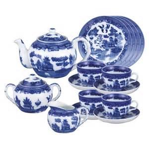 christmas food gift ideas blue willow porcelain tea set