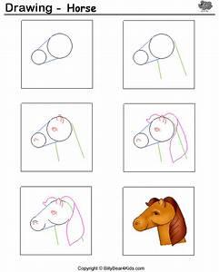 Drawing Sheet - Horse - BillyBear4Kids.com