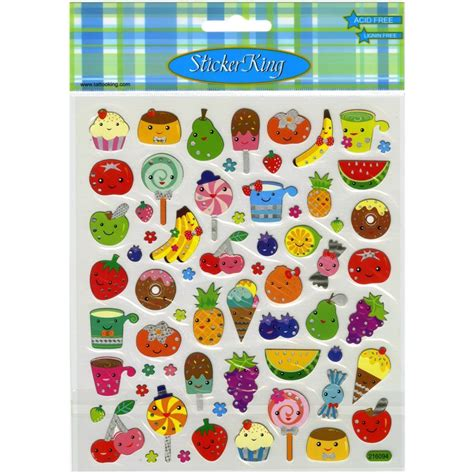 cuisine stickers scrapbooking crafts stickers sticker king food faces fruit