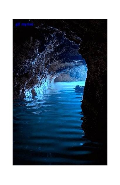 Mermaid Secretos Grotto Gifs Lugares Nature Mermaids