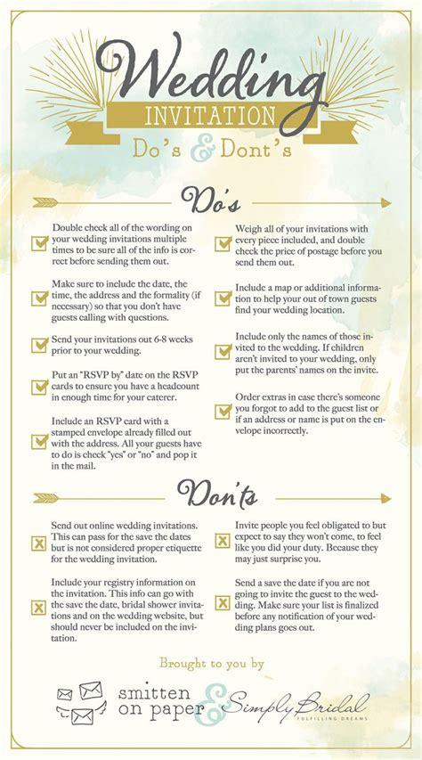 Wedding Invitation Etiquette Do