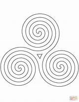 Spiral Coloring Pages Pattern Celtic Drawing Printable Swirls Getdrawings Dot Paper sketch template