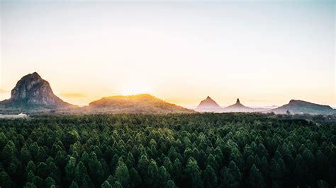 Glass House Mountains, Au... Mac Wallpaper Download ...