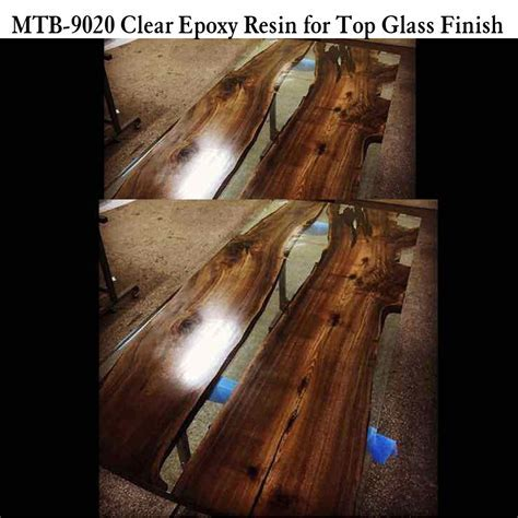 High Glossy Effect Epoxy Resin On Wood Table Top   Buy