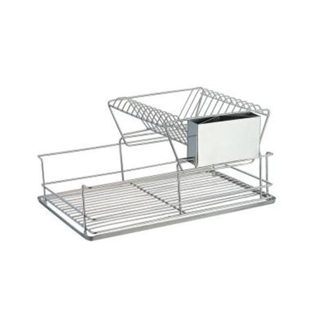 home basics 2 tier dish rack home basics stainless steel 2 tier dish rack dr30245 the