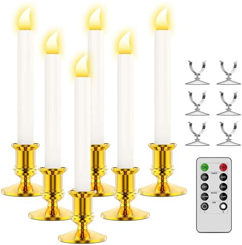 candles window led timer