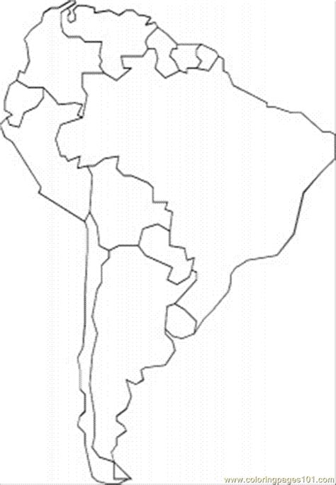 south america coloring page  maps coloring pages