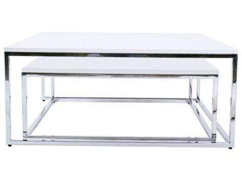 Table Basse Gigogne Ollie Coloris Blanc  Vente De Table