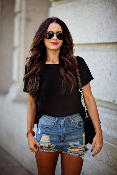 How To Style Destroyed And Ripped Denim Shorts 2018 ...
