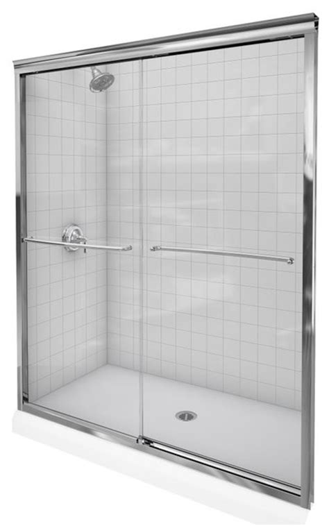 kohler fluence shower door kohler k 702207 l shp fluence 3 8 quot thick glass bypass 6685