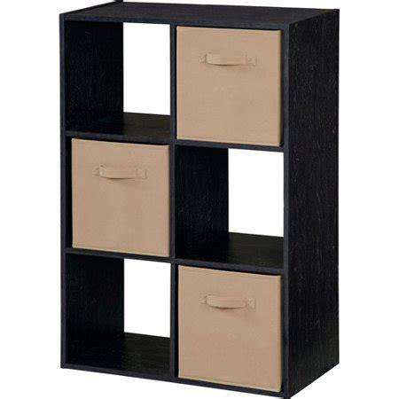 shelf organizer walmart storage cubby bookshelf with 3 fabric bins walmart